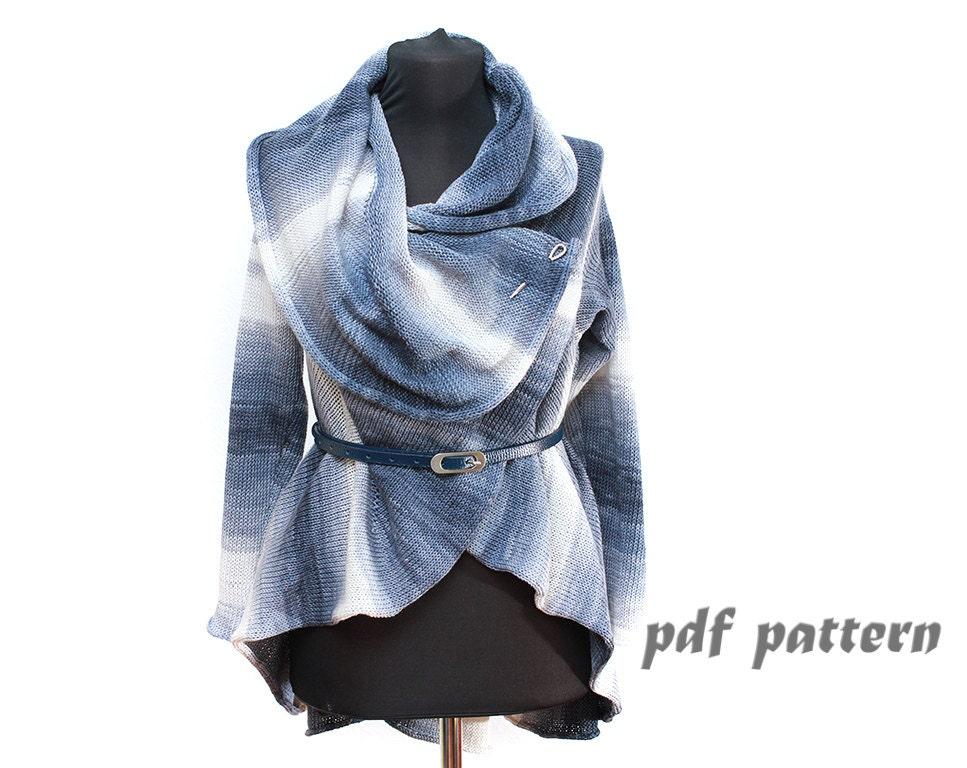 KNITTING PATTERN summer coat Pattern ToBeStudio Convertible