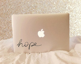 Hope - Hope Decal - Vinyl Decal - Laptop Decal - Laptop Stickers - Macbook Decal - Macbook Sticker - Word Decal - Car Decal - iPad Decal