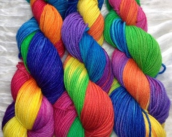 "Rainbow ""Roy G. Biv"" Non-SW Worsted yarn"