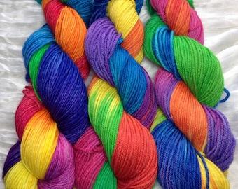 "Rainbow ""Roy G. Biv"" Non-SW Worsted yarn"