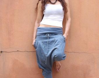 Goucho Pants ....Capri Pants ....Pants ...Color Slate Blue