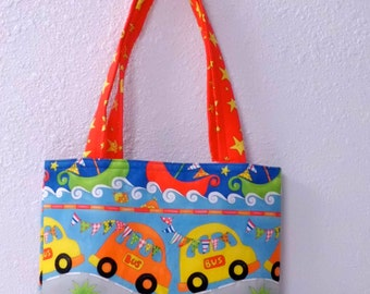 "School Bus Book Bag, 11"" x 12"""
