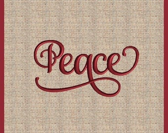 Word Peace Machine Embroidery Design Christmas Embroidery Design Bible Scripture Embroidery Design Bible Verse Design