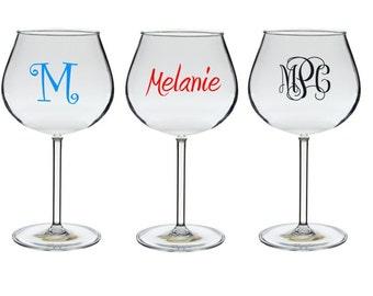 Personalized Acrylic Wine Glasses 20 oz.