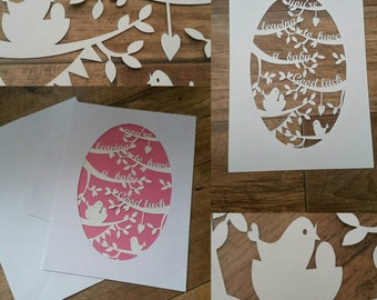Leaving to have a baby papercut a4 card