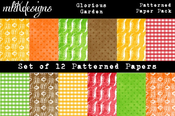 Glorious Garden Digital Paper Pack