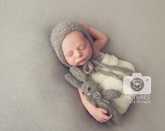 Newborn props - Baby boy set - Photo prop set - Newborn rabbit - Newborn grey - Newborn boy- Photo prop boy- Newborn boy set- Newborn rabbit