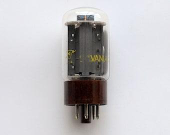 Sylvania 5881 vacuum tube - new old stock - brown base 6L6WGB tube - 6L6 family