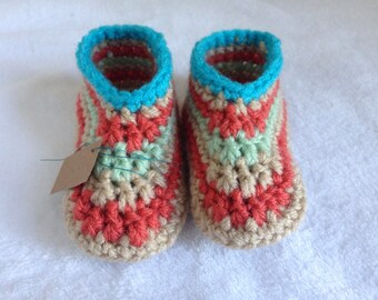 Baby Moccasin Crocheted Booties