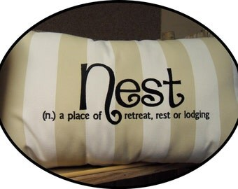 Nest Embroidered Pillow