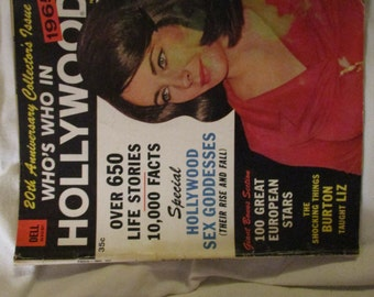 Who,s Who In Hollywood  1965 20th Anniversay Collector,s Issue