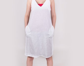 White linen dress White dress Linen dress Ready to Wear Size M