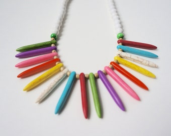 Colorful Spike Necklace