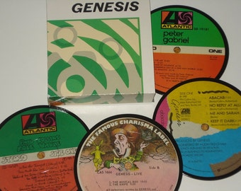 GENESIS Coasters, vinyl record coasters for drinks