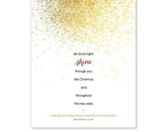 ON SALE Christian Christmas Card Template - Photoshop Template - 1197
