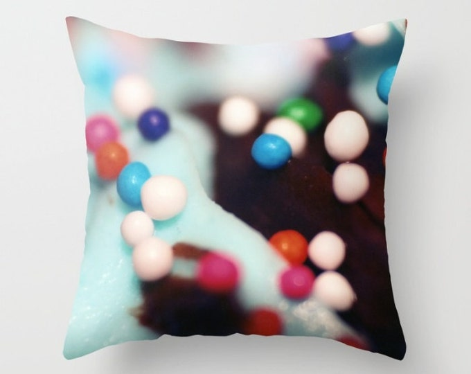Pillow Cover - Cover Only - Cupcake Sprinkles Photo - Sofa Pillow - Bed Pillow - Decorative Pillow - Original Photograph - Made to Order