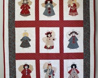 Angel Quilt Pattern, Christmas Angel Pattern, Christmas Pattern, Angel Pattern