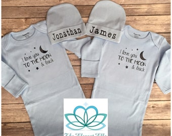 Baby Boy sleeper gowns Take me home outfit