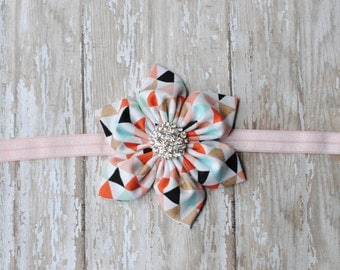 Baby Headbands Shabby Chic Flower Headband Newborn Prop Baby Girl Headband Photography Prop
