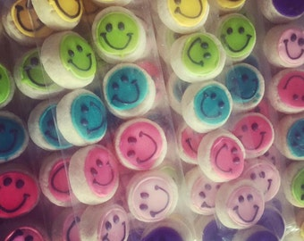 Funky Colored MIni smiley bites