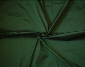 Silk Dupioni in Forest Green, Dark Green Silk by the Half Yard