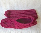 Slippers  Soft Warm Comfortable Crocheted Houseslippers  Large Slippers  Crocheted Houseshoes