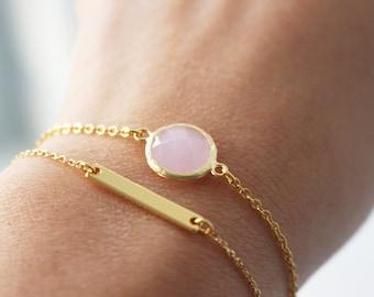 SUMMER SALE 20% OFF - Crystal Bracelet// Rose gold crystal bracelet // Pink Crystal Bracelet