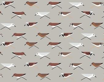Sanderlings - Charley Harper Maritime - 100% Organic Cotton - Birch Fabrics - 1 yard
