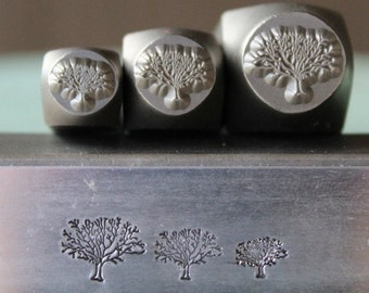 Brand New Tree of Life 3 Stamp Combination Set (6mm, 8mm and 10mm) - Metal Design Stamp-Perfect for jewelry and metal work- SGCH-126/112/121