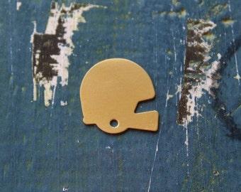 23mm Brass Football Helmet Stamping Blank- 24 Gauge - Pack of 5 - Brass Stamping Blank- Jewelry Design Stamping Blank - SGMSB-2033