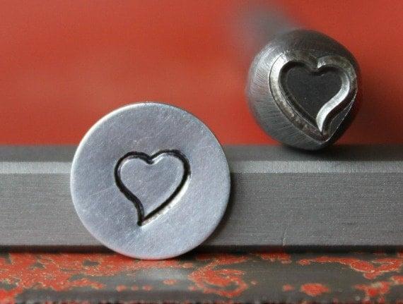 Whimsical Heart Metal Design Stamp Metal Stamp Metal Stamping