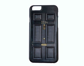 Sherlock Holmes 221B Baker Street Door Case Design For iPhone 4/4s, 5/5s, 5c, 6/6s, 6/6s Plus, 7 or 7 Plus.
