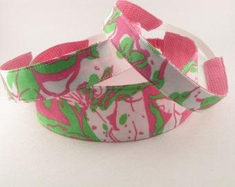 Fabric Headband, Reversible Headband, Lilly Pulitzer Fabric