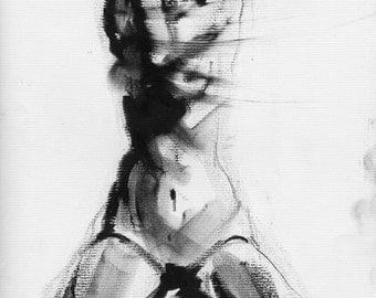 Haunting Fine Art Figure Drawing, No. 74