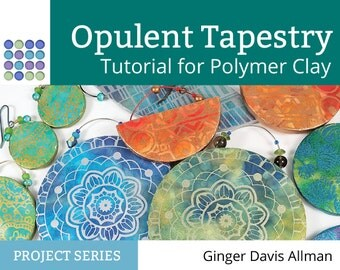 Opulent Tapestry polymer clay tutorial silkscreen earring project