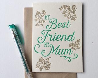 My Best Friend My Mum greeting card