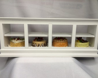 "Dollhouse Miniature 1"" Scale Bakery Case"
