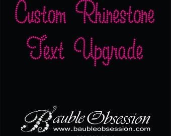 Custom Rhinestone Text - Order Upgrade