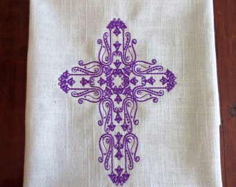 Machine Embroidered Wall Art Decor - CROSS