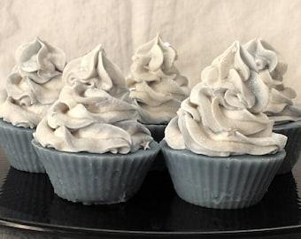Frosty Blue Cupcake Soap