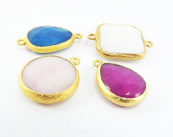 CLEARANCE DISCOUNT - 22k Gold plated Bezel - 4pc- LOT 1