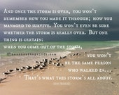 After the STORM When the Storm is Over Stormy Seagulls- Inspirational Seaside Quote Motivational Stronger than the Storm Through the Storm