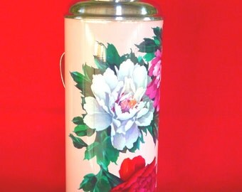 New Old Stock 70's Thermos -  Vintage Thermos - Coffee Thermos- Cup Thermos- Red Thermos- Travel Thermos 72oz/ 2.05lt SUNFLOWER China Nr692