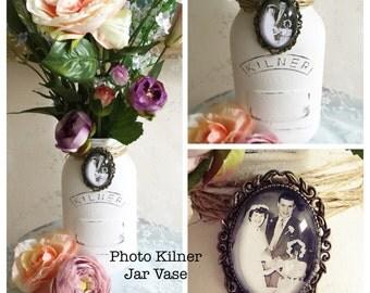 MEMORY PHOTO|Bridal Decorative Vase|Wedding Keepsake|Memorial Photo Charm|Bridal Memory Gift|Ceremonial Gift|In Loving Memory|Family Photo