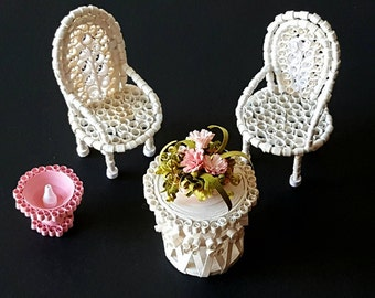 Dollhouse Furniture | Fairy Garden | Miniature furniture | Fairy House | Fairy decor | fairy furniture | Fairy items | Fairy nursery art