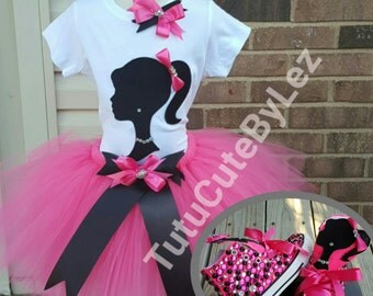 Girl Silhouette Tutu Set with or Without Converse