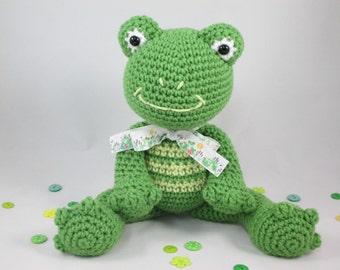 Stuffed Animal Frog Plush, Crochet Stuffed Toy, Crochet Green Frog, Toy Frog, Amigurumi Frog by CROriginals