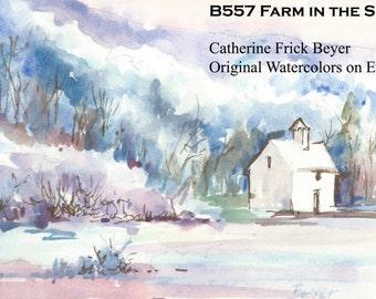 B557 Farm in the Snow