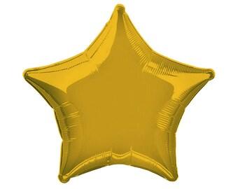 "20"" Gold Foil Star Balloon"