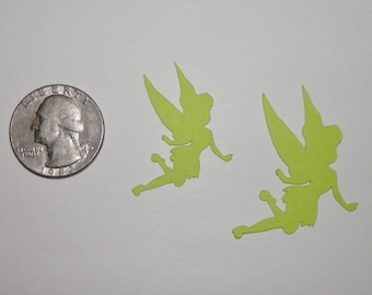 Tinkerbell Flying Die Cut Paper Punches 25 pieces - You Choose Color and Size
